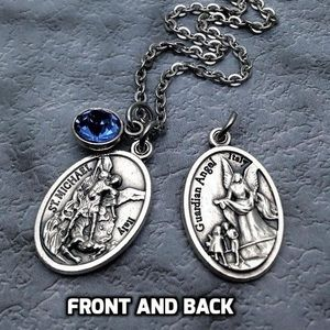 Saint Michael and Guardian Angel Necklace